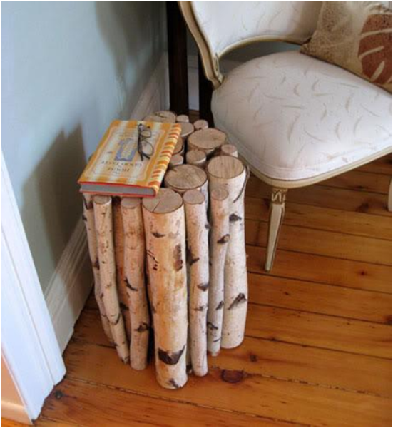 Τραπεζάκι απο κορμούς ξύλου